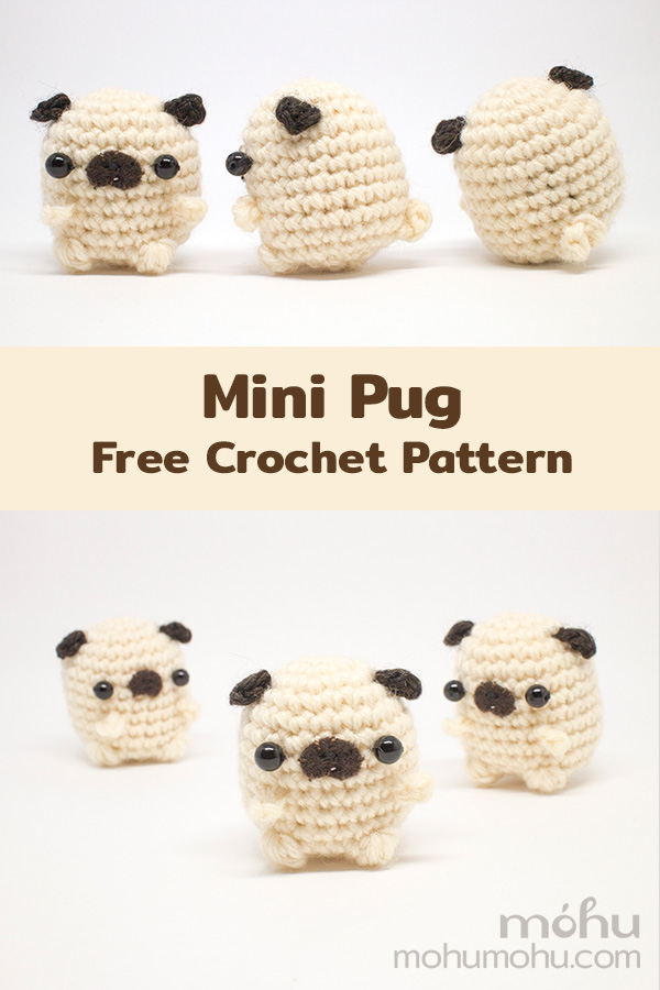 Baby Pug Dog amigurumi pattern - Amigurumi Today | 900x600