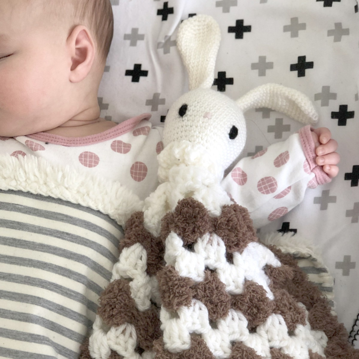 Crochet Bunny Lovey for Baby